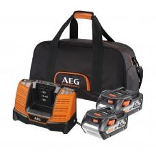 Аккумулятор AEG SET LL1840BL (2) с зарядным устройством (в сумке)