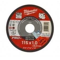 Диск отрезной по металлу 115мм/1мм MILWAUKEE SCS 41/115