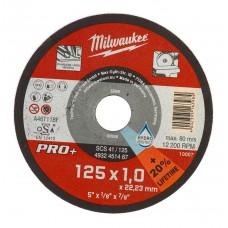Диск отрезной по металлу MILWAUKEE SCS D 125х1 мм (200 шт.)