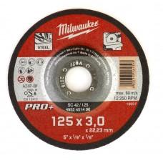 Диск отрезной по металлу MILWAUKEE SC D 125х3 мм (1 шт.)