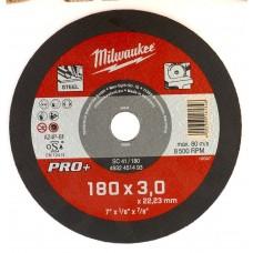Диск отрезной по металлу 180 мм/3мм MILWAUKEE SC 41/180