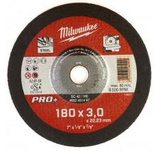 Диск отрезной по металлу 180 мм/3мм MILWAUKEE SC 42/180