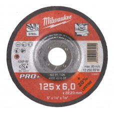 Диск шлифовальный по металлу 125мм/6мм MILWAUKEE SG 27/125