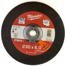 Диск шлифовальный по металлу 230мм/6мм MILWAUKEE SG 27/230