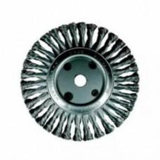 Щетка цилиндр,закал,скруч.проволока 0,50,сталь,ф150мм