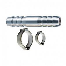 Переходник FUBAG елочка 8 мм -> елочка 8 мм с обжимными кольцами