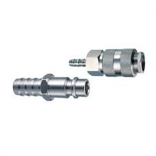 Набор соединений рапид (муфта + штуцер) FUBAG елочка 6 мм с обжимными кольцами