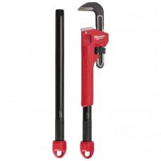 Трубный ключ Milwaukee 3в1 Cheater настраиваемый стальной