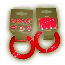 Триммерная леска ZIGZAG PROFITRIM 1,6 мм, 10 м, красная, квадрат