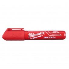 Маркер MILWAUKEE красный L с долотообразным пером  [48223256]