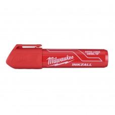 Маркер MILWAUKEE красный XL с долотообразным пером [48223266 ]