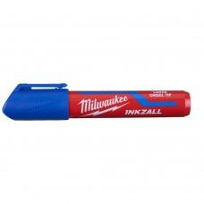 Маркер MILWAUKEE синий L - 1 с долотообразным пером