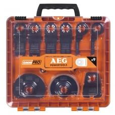 Набор оснастки для многофункционального инструмента AEG OMNI 9 шт в кейсе