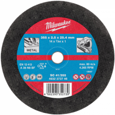 Диск отрезной по металлу MILWAUKEE CutWSC41/355X2,5 PRO +