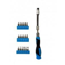 Набор прецизионных инструментов с гибким валом Zitrek SPB18 SET 18