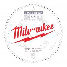 Диск пильный по дереву D 254х30х3,0 мм 60Z MILWAUKEE для циркулярной пилы