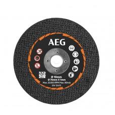 Круг отрезной по металлу D 76x10х1 мм AAKMMMC05 AEG (5 шт.)