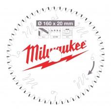 Диск пильный по дереву D 160x20x2,2 мм 42Z MILWAUKEE для циркулярной пилы