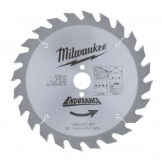 Диск пильный (по дереву) MILWAUKEE D 165х20х2,6 мм 24Z (1 шт.)