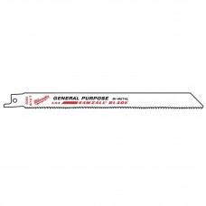 """Полотно 200 x 8/12"""" для сабельной пилы универсальное биметаллическое MILWAUKEE"""