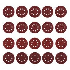 Набор шлифовальных кругов D125, зерно P40, P80, P120, P240 (20 шт)