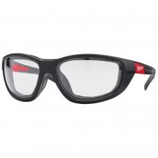 Очки с повышенной защитой с уплотняющей вставкой PREMIUM (прозрачные) MILWAUKEE